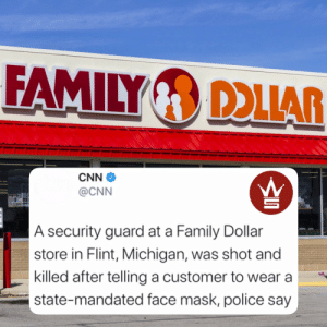According to @CNN, 43 year old Calvin Munerlyn, who worked as a security guard at a Family Dollar in Flint, Michigan, was shot and killed after telling a customer that she needed to wear a face mask...to read the full story, click the link! https://t.co/6lRGwty6qS https://t.co/sJ7icQP8UL: According to @CNN, 43 year old Calvin Munerlyn, who worked as a security guard at a Family Dollar in Flint, Michigan, was shot and killed after telling a customer that she needed to wear a face mask...to read the full story, click the link! https://t.co/6lRGwty6qS https://t.co/sJ7icQP8UL