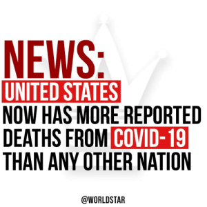 According to reports, #American deaths from the #coronavirus passed Italy's, affirming the U.S.'s spot as the epicenter of the global pandemic.  Deaths from the virus reached more than 19,880 in the U.S., according to data compiled by Johns Hopkins University.  Via @business https://t.co/u68GY7Dlf3: According to reports, #American deaths from the #coronavirus passed Italy's, affirming the U.S.'s spot as the epicenter of the global pandemic.  Deaths from the virus reached more than 19,880 in the U.S., according to data compiled by Johns Hopkins University.  Via @business https://t.co/u68GY7Dlf3