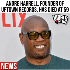 According to reports, Andre Harrell, the founder of Uptown Records, has passed away at the age of 59... read more by clicking here... https://t.co/AphLOsm0MS Via @billboard https://t.co/favAx89zs8: According to reports, Andre Harrell, the founder of Uptown Records, has passed away at the age of 59... read more by clicking here... https://t.co/AphLOsm0MS Via @billboard https://t.co/favAx89zs8