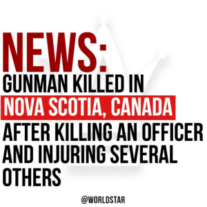 According to reports, people in a rural Nova Scotia community are reeling today after a bloody 12-hour rampage by a gunman who killed at least one Royal Canadian Mounted Police (RCMP) officer, injured and killed several innocent people.  The gunman is dead.  Via @CBCNews https://t.co/GgVZMemYQN: According to reports, people in a rural Nova Scotia community are reeling today after a bloody 12-hour rampage by a gunman who killed at least one Royal Canadian Mounted Police (RCMP) officer, injured and killed several innocent people.  The gunman is dead.  Via @CBCNews https://t.co/GgVZMemYQN