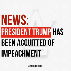 According to reports, #PresidentTrump has been acquitted of both articles of #Impeachment by the US Senate and will remain in office...thoughts? 🙏🤔 https://t.co/mQzfLuyTJv: According to reports, #PresidentTrump has been acquitted of both articles of #Impeachment by the US Senate and will remain in office...thoughts? 🙏🤔 https://t.co/mQzfLuyTJv