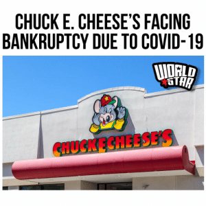 According to reports, the popular children's restaurant, Chuck E. Cheese's, is $1 billion in debt and trying avoid bankruptcy. The company faced most of it's troubles and closed over 600 locations due to the Covid-19.  Via @WSJ https://t.co/l3GzmDFse3: According to reports, the popular children's restaurant, Chuck E. Cheese's, is $1 billion in debt and trying avoid bankruptcy. The company faced most of it's troubles and closed over 600 locations due to the Covid-19.  Via @WSJ https://t.co/l3GzmDFse3
