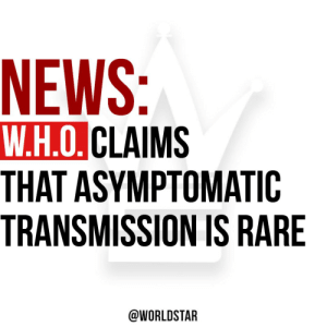 According to reports, the World Health Organization says asymptomatic spread of #coronavirus is now believed to be rare... read more..https://t.co/zWzeCHSKsG https://t.co/NaWfYmEIxG: According to reports, the World Health Organization says asymptomatic spread of #coronavirus is now believed to be rare... read more..https://t.co/zWzeCHSKsG https://t.co/NaWfYmEIxG
