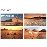 Life, Phone, and Chat: accurate  MY PHONE  My DMs  My life  SNAP CHAT