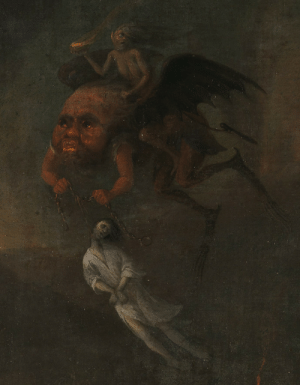 Tumblr, Blog, and Http: achasma: Orpheus and Eurydice in the Underworld (detail) byPieter Fris,1652.