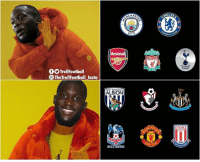 Arsenal, Memes, and 🤖: ACHES  CITY  Arsenal  TrollFootball  TheTrollFootball Insta  ALBION  CHES  STOKE  CITY  1863  POTT  NIT Lukaku this season