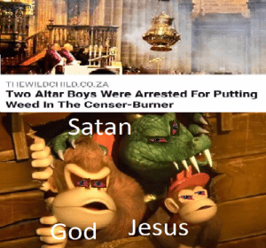 reddit: the front page of the internet: acid sham  bee 69  TIIEWILDCI ILD.CO.ZA  Two Altar Boys Were Arrested For Putting  Weed In The Censer-Burner  Satan  Jesus  Sod reddit: the front page of the internet