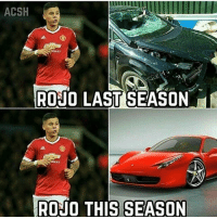 Memes, 🤖, and Player: ACSH  RONO LAST SEASON  TRONO THIS SEASON One of our most improved player this season Rojo 🔥🔥