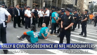 BREAKING: Activists are rallying and risking arrest at the NFL headquarters in NYC!  Steve Ross, the Chairman and Founder of Related Companies and owner of the Miami Dolphins, sits on the NFL Social & Racial Justice Committee. This is despite how his company is charged with condoning racism, sexism and union busting. Protesters are committing civil disobedience to call for Ross to step down NOW.: act.tv  RALLY & CIVIL DISOBEDIENCE AT NFL HEADQUARTERS  NE  W YORK  」 BREAKING: Activists are rallying and risking arrest at the NFL headquarters in NYC!  Steve Ross, the Chairman and Founder of Related Companies and owner of the Miami Dolphins, sits on the NFL Social & Racial Justice Committee. This is despite how his company is charged with condoning racism, sexism and union busting. Protesters are committing civil disobedience to call for Ross to step down NOW.