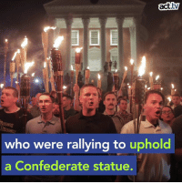 Memes, Trump, and Confederate: act.tv  who were rallying to uphold  a Confederate statue. After the Charlottesville tragedy the Trump Regime took action—to protect Confederate cemeteries.