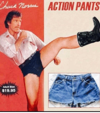 Funny, Nude, and Never: ACTION PANTS  Adult Size  $19.95