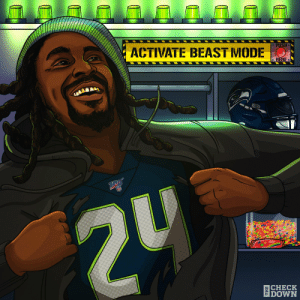 Welcome back to the @Seahawks, BeastMode! @MoneyLynch  (via @thecheckdown) https://t.co/5G1af1DLUe: ACTIVATE BEAST MODE O  O PUSH.  o HERE  2U  ECHECK  IDOWN Welcome back to the @Seahawks, BeastMode! @MoneyLynch  (via @thecheckdown) https://t.co/5G1af1DLUe