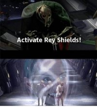 ITS SO PUNNY: Activate Rey Shields! ITS SO PUNNY