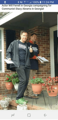 Will Ferrell: Actor Will Ferrell in Georgia campaigning for  Communist Stacy Abrams in Georgia!
