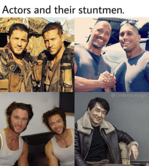 Why does Jackie want all the attention though?: Actors and their stuntmen.  @cinema.magic Why does Jackie want all the attention though?