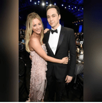 Memes, California, and Santa: Actors Kaley Cuoco and Jim Parsons attend The 22nd Annual Critics' Choice Awards at Barker Hangar on December 11, 2016 in Santa Monica, California.