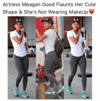 Cute, Makeup, and Memes: Actress Meagan Good Flaunts Her Cute  Shape & She's Not Wearing MakeUp  LA  LA