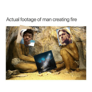 Fire, History, and Rare: Actual footage of man creating fire A rare pictute of history being made.