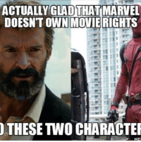 Q: You agree? -💪 -Follow @deadpoolfacts for your daily Deadpool dose. -💪 @vancityreynolds 🙌 wadewilson mercwithamouth marvelnation deadpoolfacts deadpoolnation deadpool marvel deadpool2 antihero lolz lmaobruh hahaha lmfao heh hehe MarvelousJokes: ACTUALLY GLAD  THATMARVEL  DOESNT OWN MOVIE RIGHTS  THESE TWO CHARACTER  ME Q: You agree? -💪 -Follow @deadpoolfacts for your daily Deadpool dose. -💪 @vancityreynolds 🙌 wadewilson mercwithamouth marvelnation deadpoolfacts deadpoolnation deadpool marvel deadpool2 antihero lolz lmaobruh hahaha lmfao heh hehe MarvelousJokes