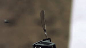 Fake, Gif, and Reddit: actualspookyslug:  reapergrellsutcliff:  mylittlebig-world-of-my-mind:  elesbreee:  sixpenceee:  1911 Pistol vs. Butter knife. Wow I was not expecting that! (Source)  Cut like butter  Holyshit I take back everything I said about butter knives        people in the 1910-1920s weren't fuckin around with their shit that butterknife is stronger than 95% of the products we have today
