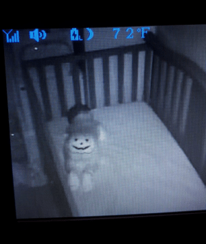 I put my son in a Halloween onesie without thinking much about it and gave myself a heart attack at 2am.: AD  7 2 F  Yill I put my son in a Halloween onesie without thinking much about it and gave myself a heart attack at 2am.