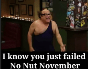 You almost had it: AD HERE  I know you just failed  No Nut November You almost had it