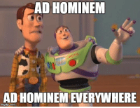 United States Politics in a nutshell: AD HOMINEM  AD HOMINEM EVERYWHERE  ingflip.com United States Politics in a nutshell