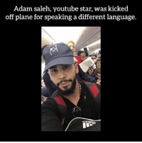 I wish for world peace - Video by: Adam saleh - worldpeace peace saynotoracism equality: Adam saleh, youtube star, was kicked  off plane for speaking a different language. I wish for world peace - Video by: Adam saleh - worldpeace peace saynotoracism equality