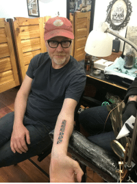 Savage, Ruler, and Adam Savage: Adam Savage got a ruler tattooed on his arm so he can measure things with his arm