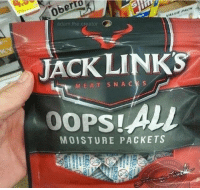 Links, Creator, and Jack Links: adam.the.creator  LUPMCN  JACK LINKS  M EAT SNA CKS  MOISTURE PACKETS Oops!