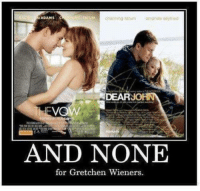 For, Dear, and Gretchen Wieners: ADAMS  DEAR  Ve  AND NONE  for Gretchen Wieners.