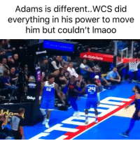 Basketball, Nba, and Sports: Adams is different..WCS did  everything in his power to move  him but couldn't Imaoo  StateFarm What is he made of 😂 (Via ‪ryenarussillo‬-Twitter)