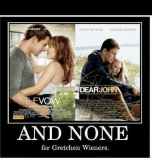 Boo, Imgur, and Whore: ADAMS  Tetum  DEARJOHN  VOW  AND NONE  for Gretchen Wieners.