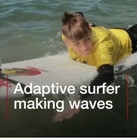 Love, Memes, and Money: Adaptive surfer  making waves 13-year-old Ethan is really making waves! Tap the link in our bio to find out more about the inspiring teenager. He's got diplegic cerebral palsy but wasn't going to let that stand in the way of his surfing dream. After his mum helped raise the money for an operation that meant he didn't need a wheelchair, Ethan set his sights on a new goal: making the World Adaptive Surfing Championships. Well done Ethan and well done mum! surfing smile hope love instagood bbcnews @bbcwalesnews