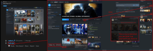 ARK: Survival Evolved, Bailey Jay, and Community: Added: Feb 9,2019  leam View Friens Cames Hep  the gish, $14.17  -Dx  4 /Steam Posted by u/mphuZ 1 day ago  7.6k  ← STORE LIBRARY COMMUNITY THE GISH  ACTIVITY  Manage my 1DLG  New Steam UI!!!  You've played for 437 hours  Would you recommend this game?  Yes  No  ACHIEVEMENTS  10/167  SEARCH  You last played on Feb 9 with ChrisC, Daniell, Brendan. HeeBees  inflict 2.500 total points of damage  ← → STORE LIBRARY COMMUNITY 81 CONSOLE  GAMES  ChrisC is tollowing an event Katowice Prep Play-Feb 27 at  161  ?2722  ChrisC favcrited a  guide to become a expert at Sledge  ARK Survival Evolved  74%, 23MB/s  WARFRAME  TRADING CARDS  You played on Feb 8 with Chris  Sid Meer's cvilization@ V  Countor-Strike: Global Offensive  Don't Starve Together  Slay the Spire  COUNTER-STRIKE: GLOBAL OFFENSIVE  You achieved  Brass Recruit  Level 2 XP 200  Counter-Slrike: Global Offensive Badge  RPG GAMES 2  PLAYTIME  PLAY  *  Game Info  NO  Feb 9  GAMES TO PLAY WITH RICKY 12  GAMES I'VE FINISHED (4  SINGLE-PLAYER GAMES (6  RECENT EVENTS AND UPDATES  Store Page  PUZZLE GAMES9  LIVE ด  SCREENSHOTS  PLAYING NOW  STRANGE 2  Phil  Oddworld Abe's Oddyseeß-Update queuerd  Ultimate Doom  The Secret of Monkey island: Special Edrion  Counter-Strike: Global Offensive  Counter-Strike Global Offensive  Competitive-Inferno [ 13:121  FRIENDS WHO PLAY  Fallt  ChrisC  This is my screenshot  you can look it up  vourself if you want to  Manage my 24 screenshots  STEAMTV: IEM 2019 Katowice CS:GO Major Championship  Day 3  9 more friends own ths game  17,099 viewers including friends DanielJ and MonkeyPete  View all friends who play  mphuz514 points 1 day ago  DLC  View more in the store  VIEWER PASS  Dust2 Training by Doinma  Dust 2  Zombie Survival 2015  Dec 6, 2019  Welcome to the Danger Zone  A new game mode, a new case, and  CS:GO is free.  From Abbey to Zoo  in today's update we are saying goodbye  Reply Give Award Share Report Save  View more in the Worksho