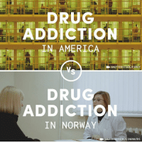 More countries should treat drug addiction the way Norway does.: ADDICTION  IN AMERICA  SHUTTERSTOCK/EXROY  DRU  ADDICTION  IN NORWAY  EN SHUTTERSTOCK/CINEMATRI More countries should treat drug addiction the way Norway does.
