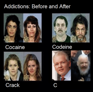 C is a hell of a drug!: Addictions; Before and After  Codeine  Cocaine  Crack C is a hell of a drug!