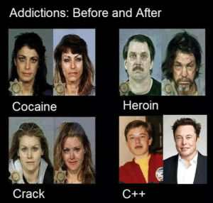 Repost, just a public PSA:: Addictions: Before and After  Heroin  Соcaine  Crack  С++ Repost, just a public PSA: