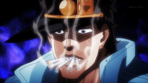 Adding a cigarette to Jotaro's mouth everyday but I skip to day 5 and never post it again. [Day 5]: Adding a cigarette to Jotaro's mouth everyday but I skip to day 5 and never post it again. [Day 5]