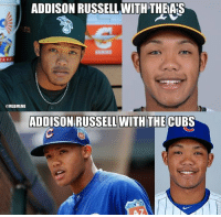 What the hell is going on with @Addison_Russell's eyes?!?! h-t @OnBaseUnit: ADDISON RUSSELL WITH THEAS  @MLBMEME  ADDISON RUSSELL WITH THE CUBS What the hell is going on with @Addison_Russell's eyes?!?! h-t @OnBaseUnit