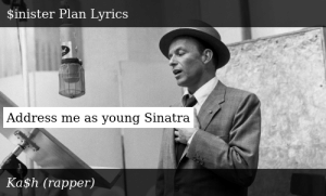 SIZZLE: Address me as young Sinatra