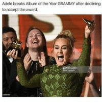 Black Twitter, Adel, and Album of the Year: Adele breaks Album of the Year GRAMMY after declining  to accept the award. I love adele