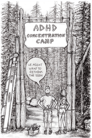 Focusing will set you free.: ADHD  CONGENTRATION  CAMP  WE MIGHT  WANT TO  RETHINK  THE SIGN Focusing will set you free.