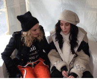 Madonna and Cher at Women's March. Legends.: ,adi  men Madonna and Cher at Women's March. Legends.