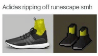 Adidas, Smh, and RuneScape: Adidas ripping off runescape smh