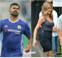Diego Costa: 28 years old Jennifer Aniston: 48 years old today Let that sink in.: adidas  YOKOHAMA  TYRES  THE FOOTBALL  COMMUNITY Diego Costa: 28 years old Jennifer Aniston: 48 years old today Let that sink in.