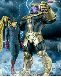 Memes, Vision, and Avengers: ADINGUINGOllING. Why do I have a feeling this is going to happen in Infinity Wars!!! 👊👊👊👊 Thanos Vision Avengers InfinityWars MindStone SuperHeroAlliance