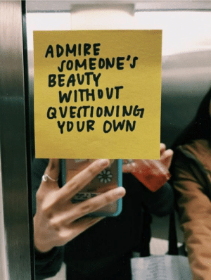 Tumblr, Blog, and Com: ADMIRE  SOMEONE's  BEAVTY  WITHOUT  GVEITIONING  YDUR OWN azn-audrey:  duh