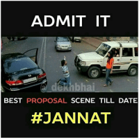 Double Tap if you've seen this scene 😍 TAG someone ❤️: ADMIT IT  de hbhai  BEST PROPOSAL  SCENE TILL DATE  HEJANNAT Double Tap if you've seen this scene 😍 TAG someone ❤️
