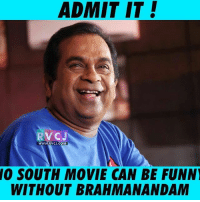 Brahmanandam! rvcjinsta: ADMIT IT!  RVCJ  WWW.RVCJ.COM  SOUTH MOVIE CAN BE FUNNI  WITHOUT BRAHMANANDAM Brahmanandam! rvcjinsta